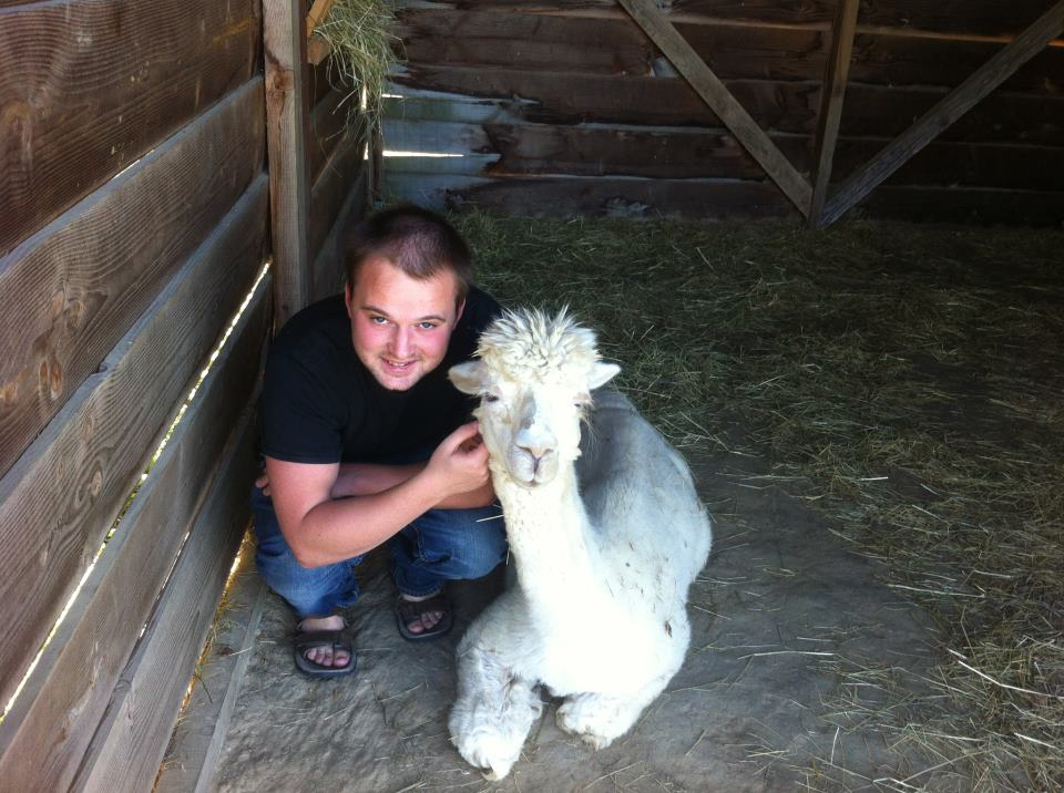 James and Angela the Alpaca